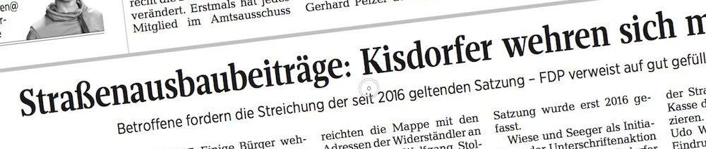 Kisdorf: Artikel zur Übergabe der Petition